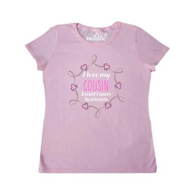 レディース 衣類 トップス I Love My Cousin- Breast Cancer Awareness Women's T-Shirt Tシャツ