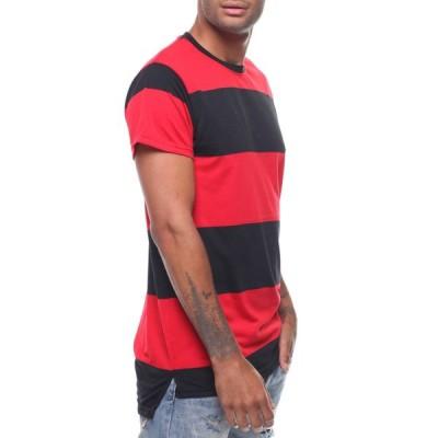 バイヤーズピック Buyers Picks メンズ Tシャツ トップス rugby stripe tee Red