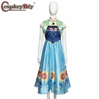 高品質 高級コスプレ衣装 フローズン風 雪の女王 ドレス アンナ エルザ 誕生日サプライズ disfraz mujer ハロウィン