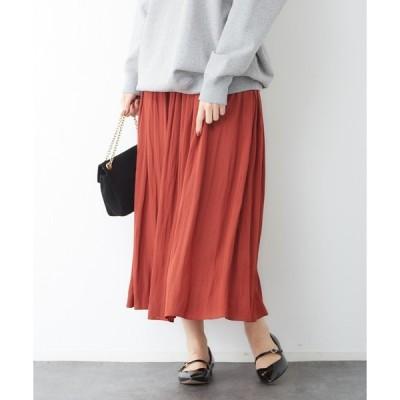 スカート ドビーギャザースカート