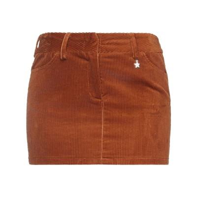 スーベニア SOUVENIR ミニスカート ブラウン S ポリエステル 97% / ポリウレタン 3% ミニスカート