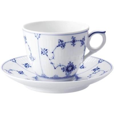 正規輸入品 ロイヤルコペンハーゲン ブルーフルーテッド プレイン コーヒー カップ & ソーサー 170ml 1017173