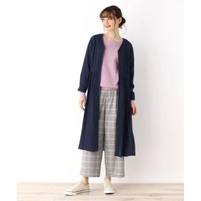 pink adobe/ピンクアドベ <WEB限定・LLサイズあり>ドロストデザイン ライトコート ネイビー(093) 40(L)