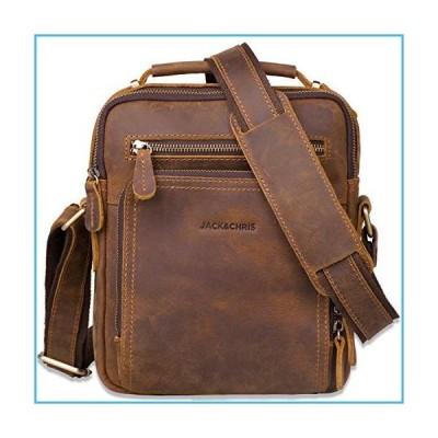 Leather Messenger Bag for Men,Jack&Chris Man Purse Crossbody Bags for Work Business (Brown), JC5207-8並行輸入品