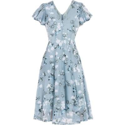 ジョリモリ Jolie Moi レディース ワンピース ワンピース・ドレス Amia Printed Mesh Dress Blue Floral