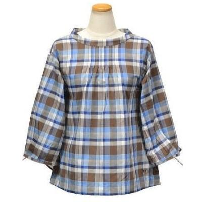 マックレガー マドラスチェック七分袖シャツ レディース 311159304 UVカット ブラウス