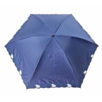 一級遮光 晴雨兼用 ミニ傘 チェーン刺繍(27-8273-20 SBK121C) ネイビー/オフ/ブラック 【送料無料】(アンブレラ、日傘、雨傘、折傘