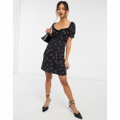 ネバーフリードレス Never Fully Dressed レディース ワンピース ワンピース・ドレス Black Print Paola Dress ブラックプリント