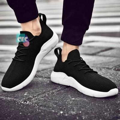 メンズ 男性 男の子 シューズ 靴 スニーカー ゴムソール 運動靴 丸ヘッド レジャー 通気性 通気孔 ホワイトBH0725-AL87