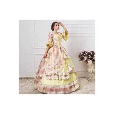 ドレスレディースパーティードレスステージ衣装コスプレ衣装コスチュームロリータ風宮廷服貴族風洋風ドレスプリンセス