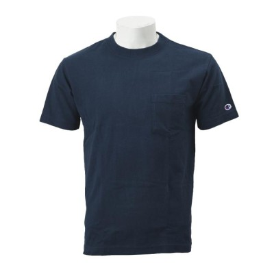 【CHAMPION】 チャンピオン M ベーシック ポケットTシャツ2 C3-M349 ネイビー XL ブルー