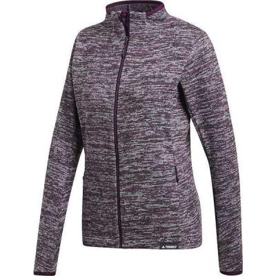 アディダス レディース ジャケット・ブルゾン アウター Adidas Women's Knit Fleece Jacket
