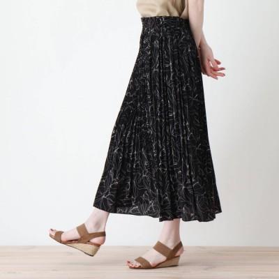 シューラルー SHOO-LA-RUE 変形プリーツスカート (ブラック)