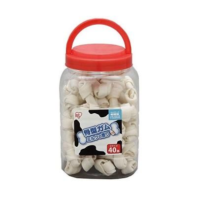 アイリスオーヤマ 犬用おやつ 骨型ガム ミルク味 Sサイズ 40本入