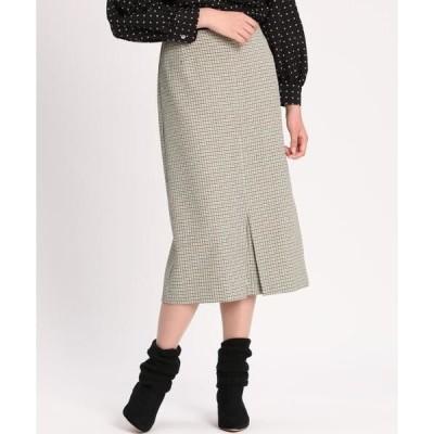 INED / イネド フロントスリットタイトスカート