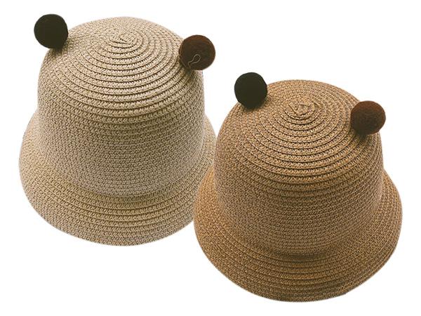 韓版兒童夏日可愛小耳朵遮陽草帽(1入) 顏色可選【D802168】