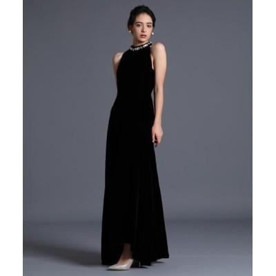 ef-de/エフデ 《M Maglie le cassetto》ベルベットロングドレス ブラック 09