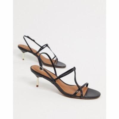リース Reiss レディース サンダル・ミュール シューズ・靴 Opehlia Strappy Mid Heel Sandals ブラック