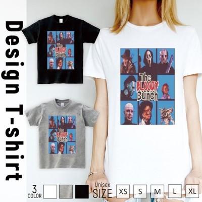 Tシャツ レディース 半袖 トップス ブランド ユニセックス メンズ プリントTシャツ ホラー 夏 チャッキー ジェイソン フレディー レザーフェイス