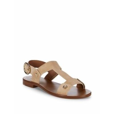 フライ レディース シューズ サンダル Halle Rivet Leather Slingback Sandals