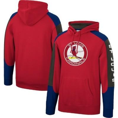 ミッチェル&ネス メンズ パーカー・スウェット アウター St. Louis Cardinals Mitchell & Ness Fusion Fleece Pullover Hoodie