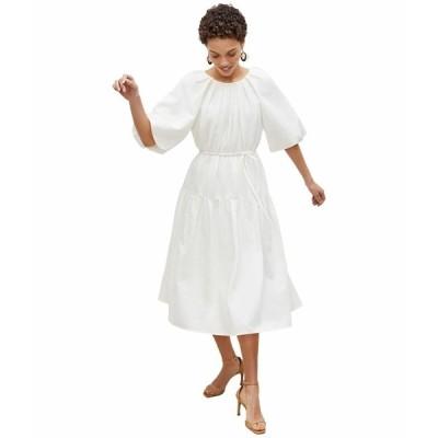 エムエメウラフール ワンピース トップス レディース Medina Dress - Textured Voile Porcelain