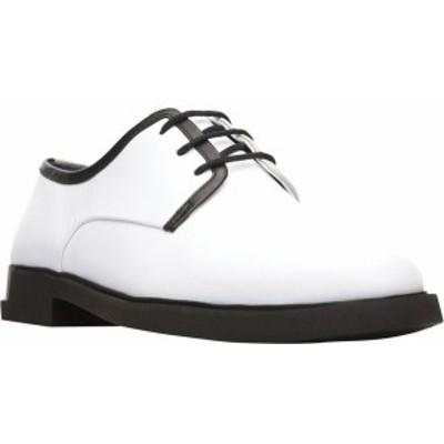 カンペール レディース オックスフォード シューズ Twins Oxford White Smooth Leather