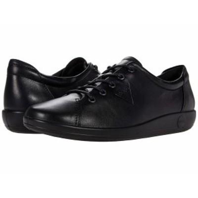 エコー レディース スニーカー シューズ Soft 2.0 Tie Sneaker Black/Black Sol