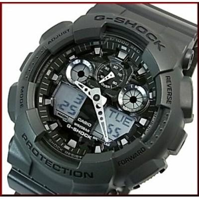 カシオ/G-SHOCK【CASIO/Gショック】カモフラージュダイアルシリーズ メンズ腕時計 グレー(海外モデル)GA-100CF-8A