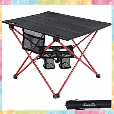 Sykooria アウトドアテーブル 静止耐荷重30kg 折りたたみ式 超軽量 高耐久性 アルミ製 キャンプテーブル オックス