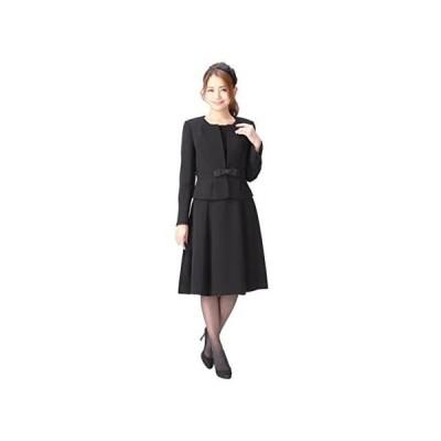 ブラックフォーマル レディース 喪服 アンサンブル ワンピース 礼服 洗える 冠婚葬祭 m433 (プチサイズ 13 号 P)
