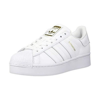adidas Originals Women's Superstar Bold Shoes Sneaker, White/White/Gold Metallic, 9.5