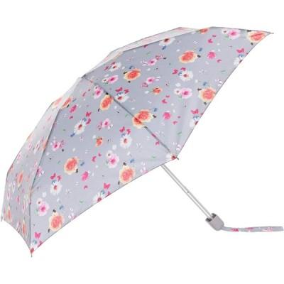 ムーンバット FULTON(フルトン) フルトンミニ傘折りたたみ傘 Tiny Summer Sunrise Floral ライトグレー レデ