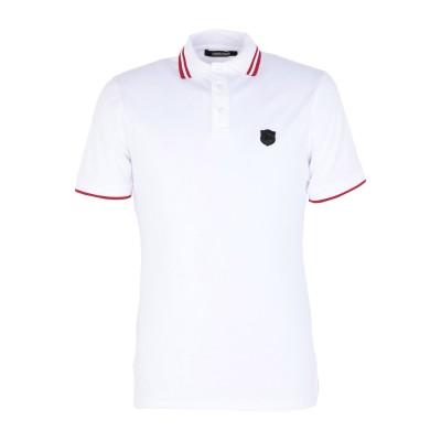 ロベルト カヴァリ ROBERTO CAVALLI ポロシャツ ホワイト S コットン 95% / ポリウレタン 5% ポロシャツ