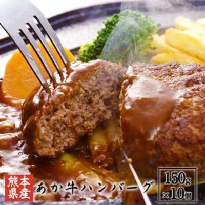 あか牛ハンバーグ150g×10個  送料無料 冷凍 肉 送料無料 御船屋 熊本県御船町《30日以内に順次出荷(土日祝除く)》