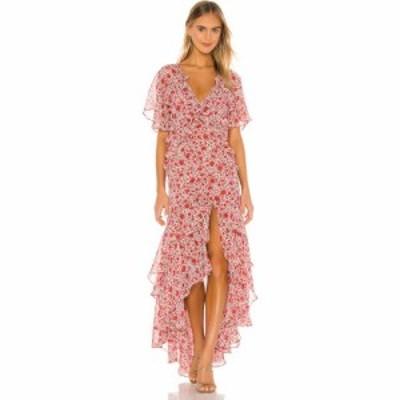 ミサロサンゼルス MISA Los Angeles レディース ワンピース ワンピース・ドレス Katarina Dress Rust Animal Floral
