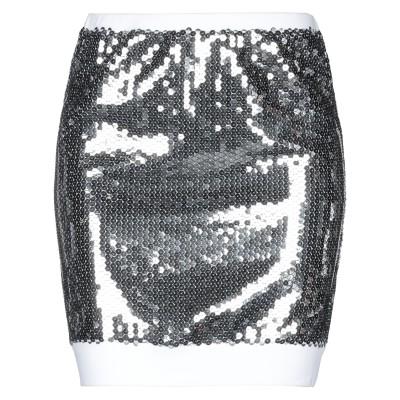 ジェレミー・スコット JEREMY SCOTT ミニスカート シルバー 38 コットン 48% / ポリエステル 48% / 指定外繊維 4% ミニ
