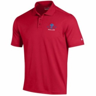 Under Armour アンダー アーマー スポーツ用品  Under Armour Philadelphia Phillies Red MLB Performance Polo