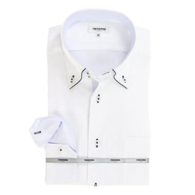 アイスカプセル形態安定レギュラーフィット ドゥエボットーニボタンダウン7分袖ビジネスドレスシャツ/ワイシャツ