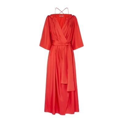 THREE GRACES LONDON ロングワンピース&ドレス レッド 6 シルク 100% ロングワンピース&ドレス