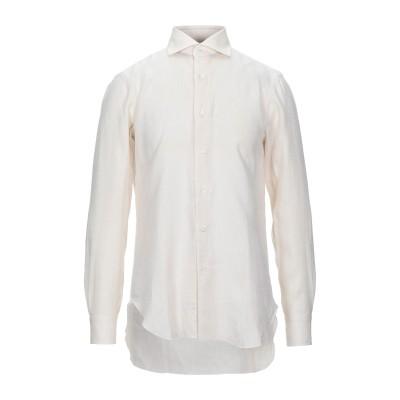 BARBA Napoli シャツ ベージュ 39 リネン 100% シャツ