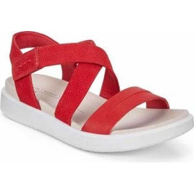 エコー レディース サンダル シューズ Flowt Cross Strappy Sandal Chili Red/Chili Red Leather