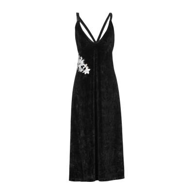 AKEP 7分丈ワンピース・ドレス ブラック 40 ポリエステル 95% / ポリウレタン 5% 7分丈ワンピース・ドレス