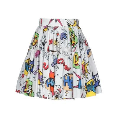 ドルチェ & ガッバーナ DOLCE & GABBANA ひざ丈スカート ホワイト 44 コットン 100% ひざ丈スカート