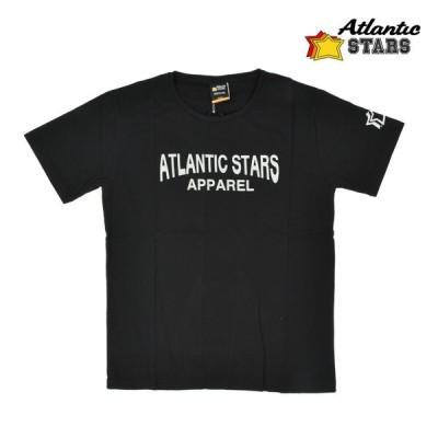 アトランティックスターズ AMF1854 T-shirt BLACK プリント Tシャツ カットソー クルーネック ブラック 黒 メンズ