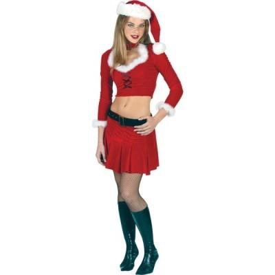 クリスマス サンタクロース 衣装 、コスチューム 大人女性用 セクシー ツーピース 長袖 MS SEXY