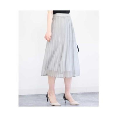 MK MICHEL KLEIN / 【洗える】ラメニットプリーツスカート