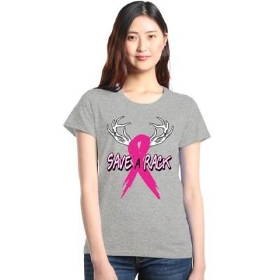 レディース 衣類 トップス Shop4Ever Women's Save A Rack Breast Cancer Awareness Graphic T-Shirt Tシャツ