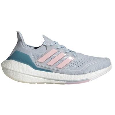 アディダス シューズ レディース ランニング Ultraboost 21 Running Shoe - Women's HalBlue/Frecan/HazBlue