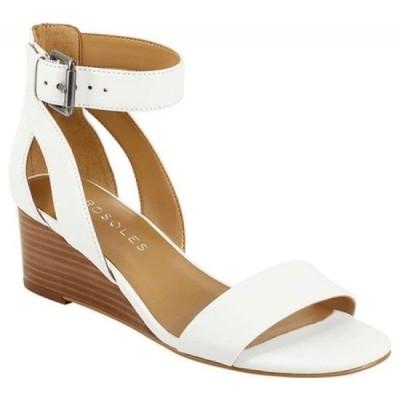 エアロソールズ Aerosoles レディース サンダル・ミュール アンクルストラップ ウェッジソール Willowbrook Ankle Strap Wedge Sandal White Leather